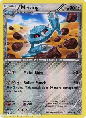 Picture of Metang 48/98 :: Ancient Origins :: Reverse Holo Mint Pokemon Card