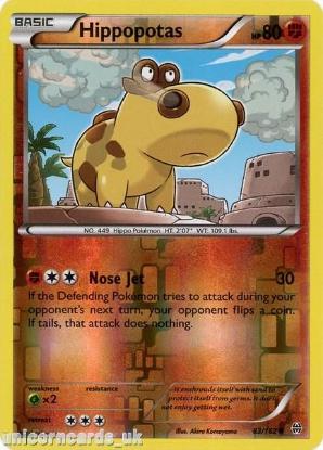 Picture of Hippopotas 83/162 BREAKthrough Reverse Holo Mint Pokemon Card
