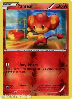 Picture of Pansear 23/162 BREAKthrough Reverse Holo Mint Pokemon Card