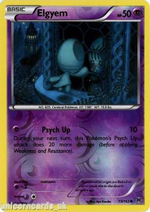 Picture of Elgyem 73/162 BREAKthrough Reverse Holo Mint Pokemon Card