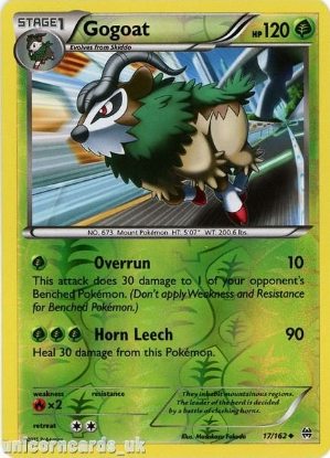Picture of Gogoat 17/162 BREAKthrough Reverse Holo Mint Pokemon Card
