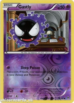 Picture of Gastly 58/162 BREAKthrough Reverse Holo Mint Pokemon Card
