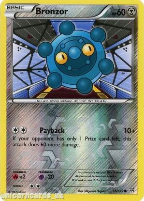 Picture of Bronzor 95/162 BREAKthrough Reverse Holo Mint Pokemon Card