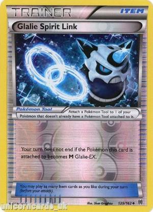 Picture of Glalie Spirit Link 139/162 BREAKthrough Reverse Holo Mint Pokemon Card