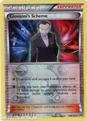 Picture of Giovanni's Scheme 138/162 BREAKthrough Reverse Holo Mint Pokemon Card