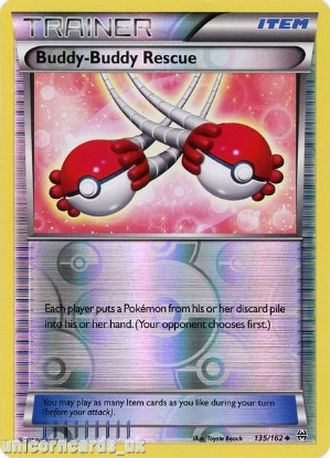Picture of Buddy-Buddy Rescue 135/162 BREAKthrough Reverse Holo Mint Pokemon Card