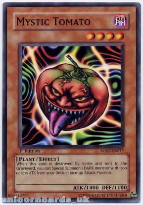 Picture of 5DS1-EN017 Mystic Tomato 1st Edition Mint YuGiOh Card