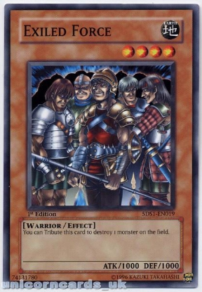 Picture of 5DS1-EN019 Exiled Force 1st Edition Mint YuGiOh Card