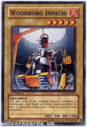 Picture of 5DS1-EN006 Woodborg Inpachi 1st Edition Mint YuGiOh Card