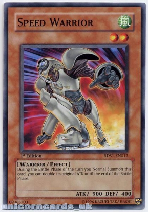 Picture of 5DS1-EN012 Speed Warrior 1st Edition Mint YuGiOh Card