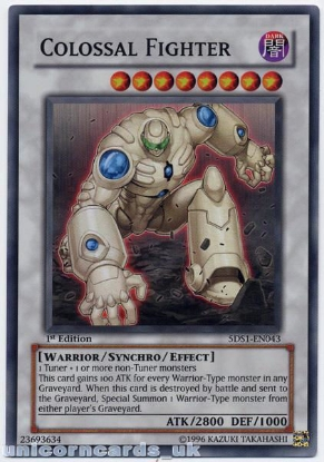 Picture of 5DS1-EN043 Colossal Fighter Super Rare 1st Edition Mint YuGiOh Card