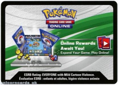 Picture of Flygon EX Pokemon Online Bonus Code Card