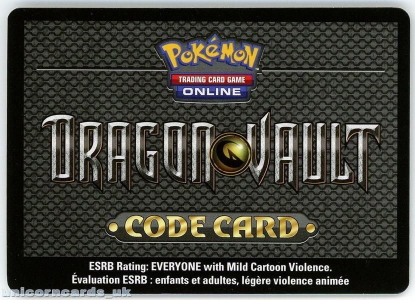 Picture of Dragon Vault Pokemon Online Bonus Code : 3 Dragon Vault Online Packs + Card