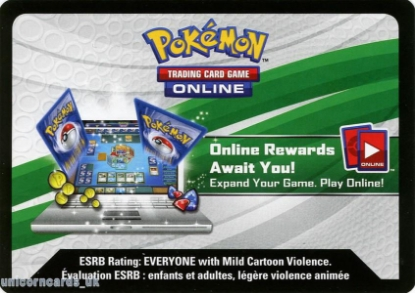 Picture of Pokemon TCG Online :: Powers Beyond Tin - Hoopa EX Online Bonus Code Card :: Hoopa-EX Complete Deck!