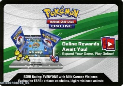 Picture of Pokemon TCG Online :: Battle Heart Fall 2016 Tin: Volcanion EX Online Bonus Code Card ::