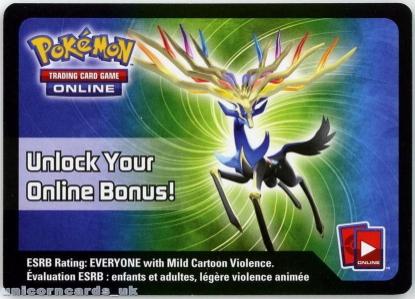 Picture of Xerneas EX Pokemon Online Bonus Code Card