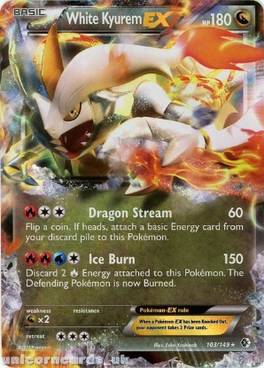 Picture of White Kyurem EX 103/149 BKWK Holo Mint Pokemon Card