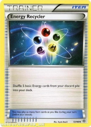 Picture of Energy Recycler 72/98 BKWK  Mint Pokemon Card