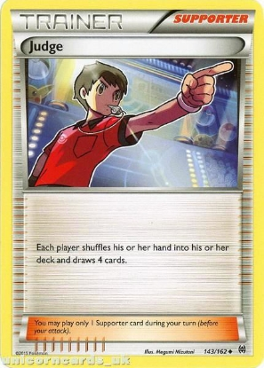 Picture of Judge 143/162 BREAKThrough Mint Pokemon Card