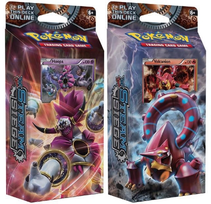 Picture of Pokemon XY11 Steam Siege 2 Decks: Ring of Lightning Hoopa + Gears of Fire Volcanion