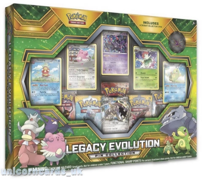 Picture of Pokemon TCG: Legacy Evolution Pin Collection :: Brand New And Sealed Box!