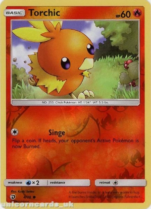 Picture of Torchic 4/70 Dragon Majesty Reverse Holo Mint Pokemon Card