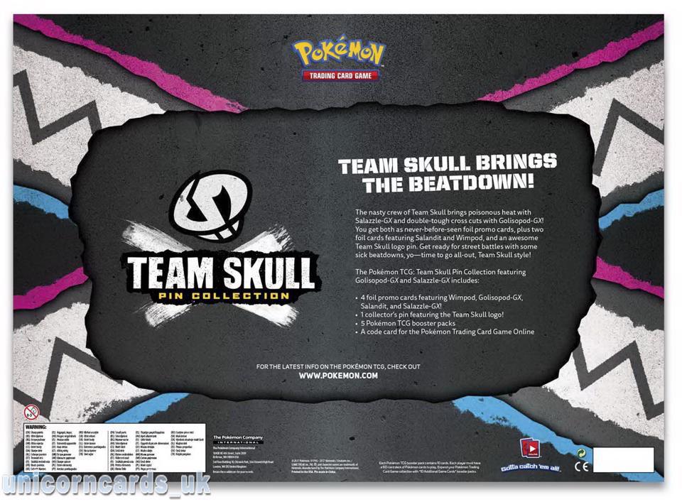 Pokemon TCG Team Skull Pin Collection New Sealed GX Mint RARE