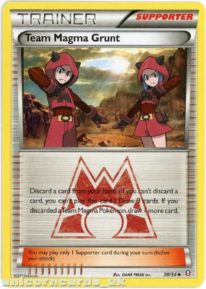 Picture of Pokemon XY Double Crisis : Team Magma Grunt 30/34 Trainer Mint Card