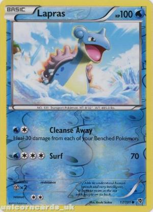 Picture of Lapras 17/101 Plasma Blast Reverse Holo Mint Pokemon Card