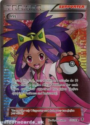Picture of Iris 101/101 Plasma Blast Rare Ultra Mint Pokemon Card