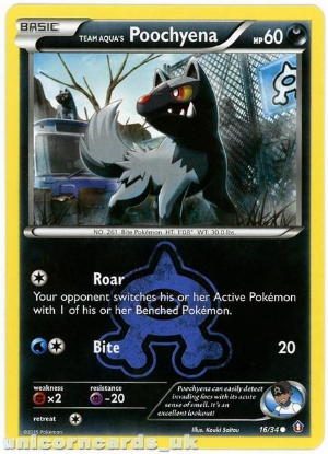 Picture of Pokemon XY Double Crisis : Team Aqua's Poochyena 16/34 Mint Card