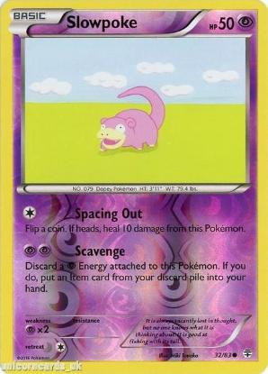 Picture of Generations 32/83 Slowpoke Reverse Holo Mint Pokemon Card