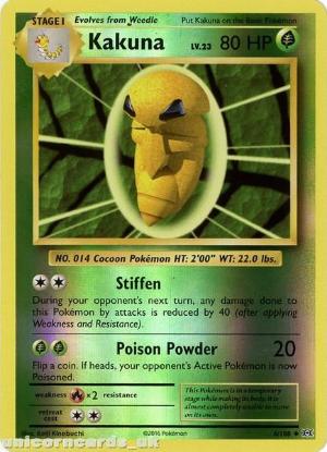 Picture of Kakuna 6/108 :: Evolutions ::  Reverse Holo Mint Pokemon Card