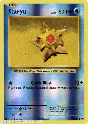 Picture of Staryu 30/108 :: Evolutions ::  Reverse Holo Mint Pokemon Card