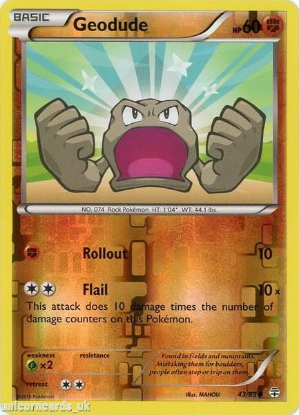 Picture of Generations 43/83 Geodude Reverse Holo Mint Pokemon Card