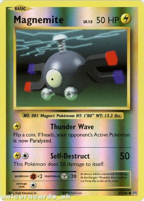 Picture of Magnemite 37/108 :: Evolutions ::  Reverse Holo Mint Pokemon Card
