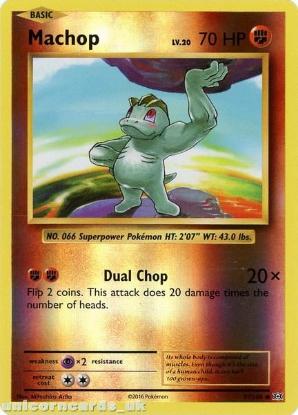 Picture of Machop 57/108 :: Evolutions ::  Reverse Holo Mint Pokemon Card