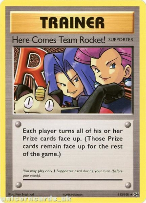 Picture of Here Comes Team Rocket! 113/108 :: Evolutions ::  Rare Secret Non-Holo Mint Pokemon Card