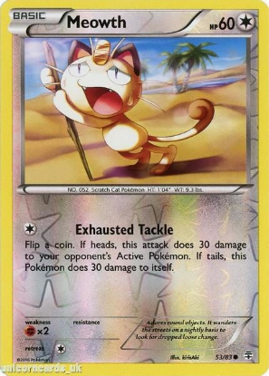 Picture of Generations 53/83 Meowth Reverse Holo Mint Pokemon Card
