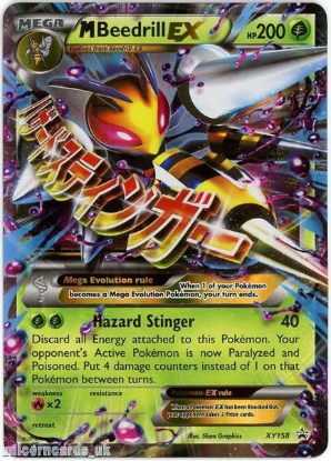 Picture of Mega M Beedrill EX XY158 JUMBO OVERSIZED Holo Mint Pokemon Card