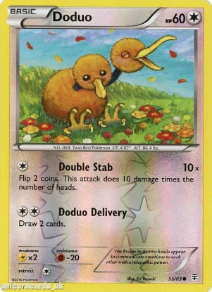 Picture of Generations 55/83 Doduo Reverse Holo Mint Pokemon Card