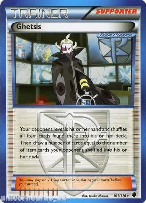 Picture of Ghetsis 101/116 LBD Rare Mint Pokemon Card