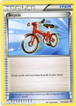 Picture of Bicycle 117/135 LBD Uncommon Mint Pokemon Card