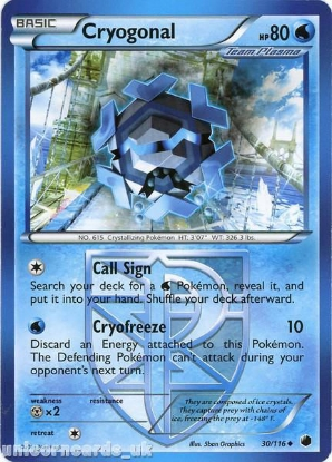 Picture of Cryogonal 30/116 LBD Uncommon Mint Pokemon Card
