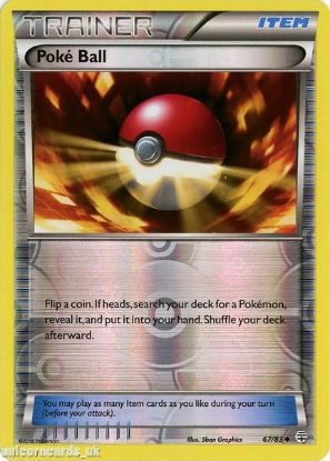 Picture of Generations 67/83 Poke Ball Reverse Holo Mint Pokemon Card