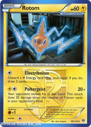 Picture of Rotom 49/135 LBD Uncommon Mint Pokemon Card