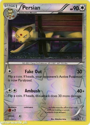 Picture of Generations 54/83 Persian Reverse Holo Mint Pokemon Card