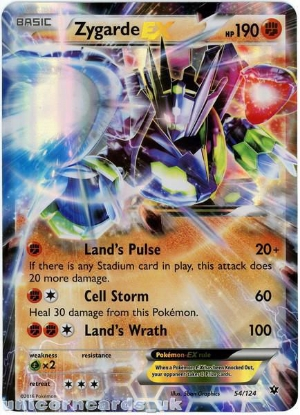 Picture of Zygarde EX 54/124 JUMBO OVERSIZED Holo Mint Pokemon Card