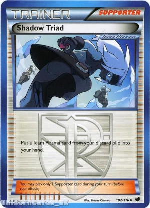 Picture of Shadow Triad 102/116 LBD Uncommon Mint Pokemon Card