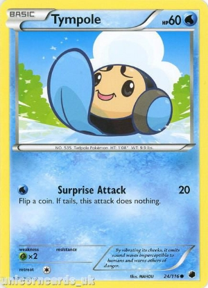 Picture of Tympole 24/116 LBD Common Mint Pokemon Card